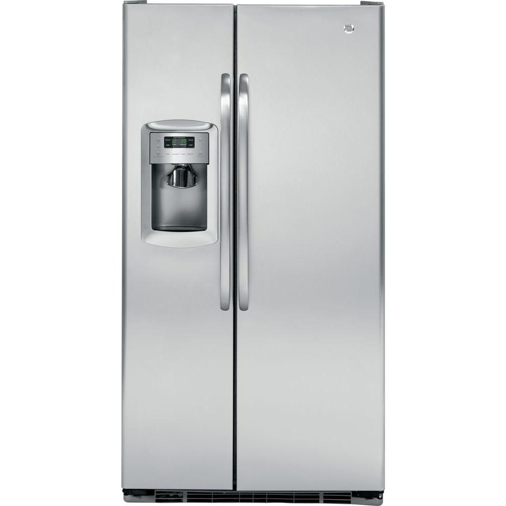 GE 22.7 cu. ft. Side by Side Refrigerator in Stainless Steel