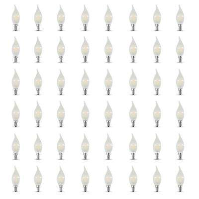40-Watt Equivalent CA10 Candelabra Dimmable Filament CEC LED ENERGY STAR Frosted Glass Light Bulb, Soft White (48-Pack)