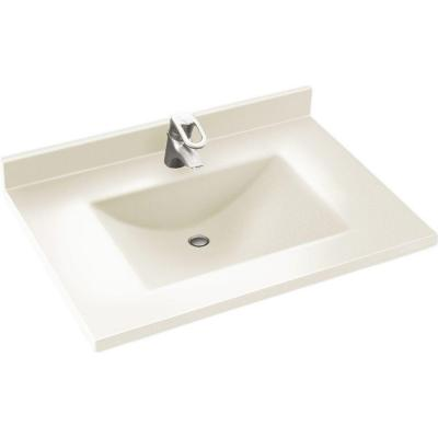 Contour 37 in. W x 22 in. D Solid Surface Vanity Top with Sink in Bisque