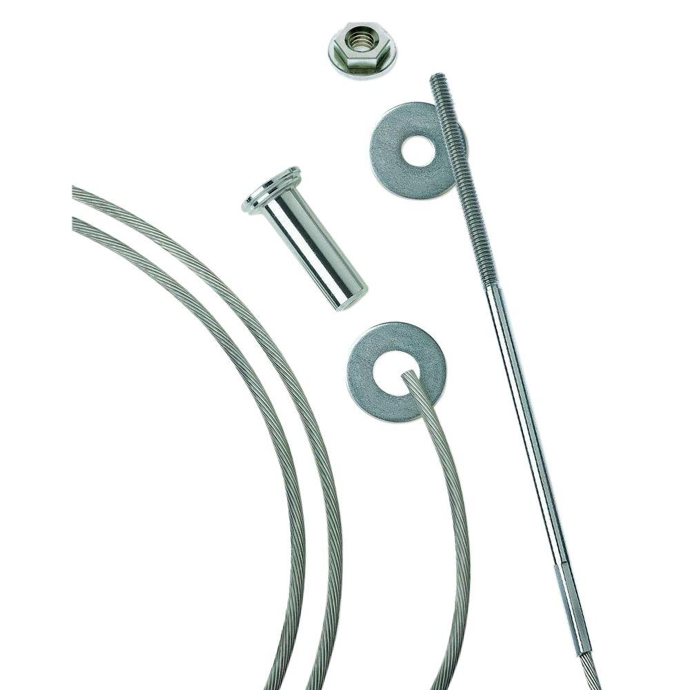 Cable Railing Kit Fit 1//8 Wire Deck Post Cable Railing Kit for Wood Posts Cable Railing Hardware Kit 10 Pack