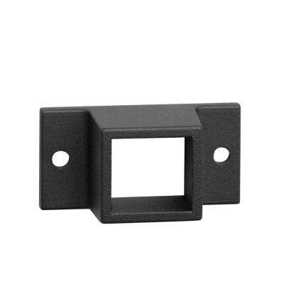 0.055 in. x 1 in. x 1 in. Black Aluminum Fixed Fence Wall Flange