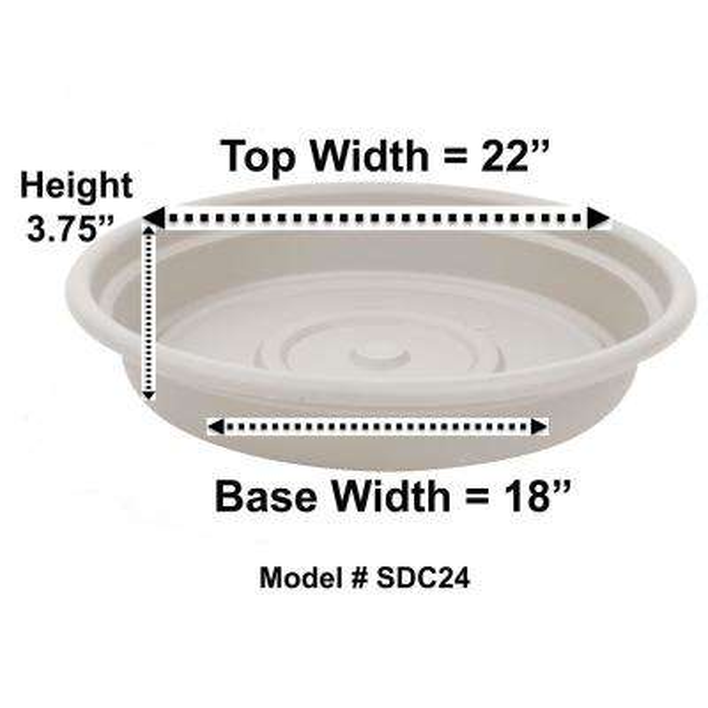 Dura Cotta 22 in. Taupe Plastic Saucer