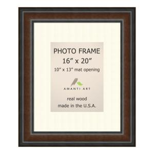 Amanti Art Cyprus 10 In X 13 In White Matted Brown Walnut Picture