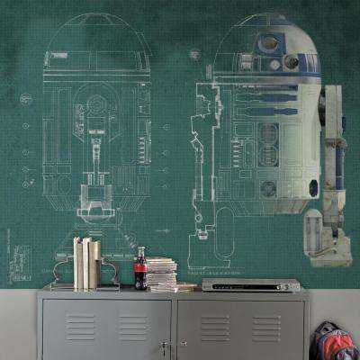 90 in. x 72 in. Star Wars R2-D2 Prepasted Mural 5-Panel Prepasted Mural
