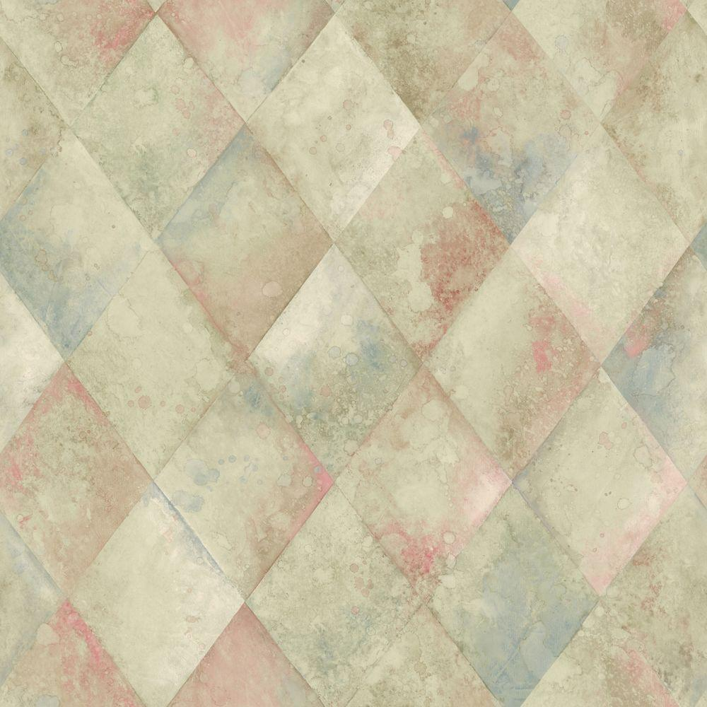The Wallpaper Company 8 in. x 10 in. Blue, Green and Red Textured Harlequin Wallpaper Sample-DISCONTINUED