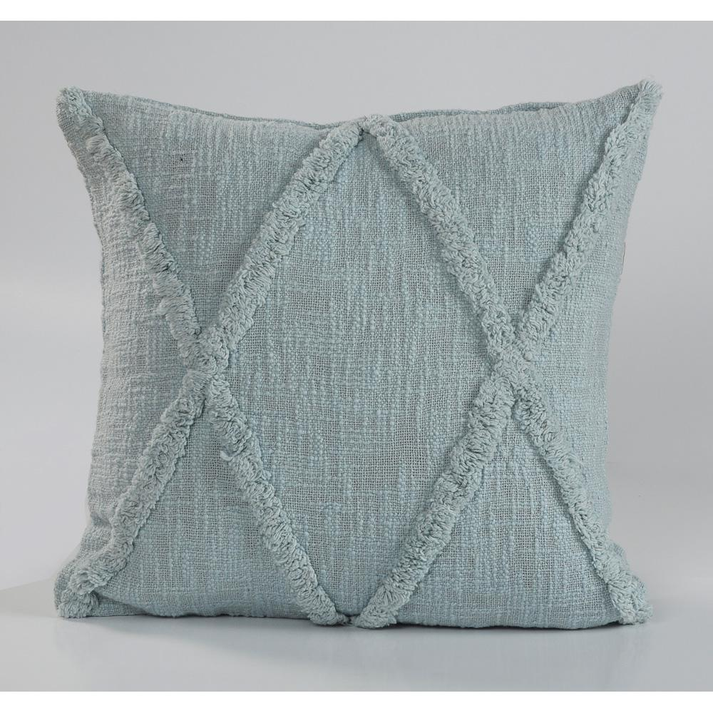 Geometric Pastel Blue Geometric Hypoallergenic Polyester 18 in. x 18 in. Throw Pillow