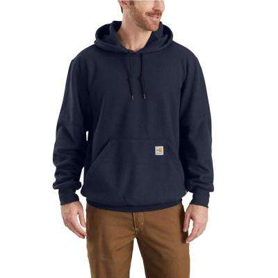 Men's Medium Tall Dark Navy Modacrylic/Lyocell/Aramid Fleece FR HW Hooded Sweatshirt