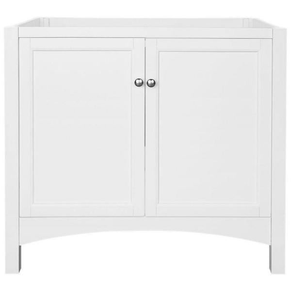 Haven 36 in. W Bath Vanity Cabinet Only in White