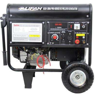 Pro-Series GFCI 420cc Gasoline Powered Portable Generator with Welder Combo