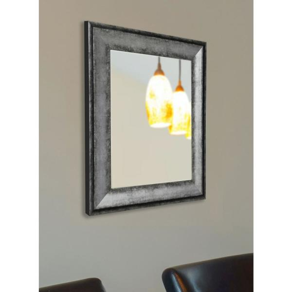 39 in. x 33 in. Sterling Charcoal Non-Beveled Vanity Wall Mirror