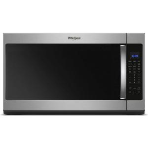 Whirlpool 30 in W 2.1 cu. ft. Over the Range Microwave in Fingerprint Resistant Stainless Steel with Steam Cooking by Whirlpool