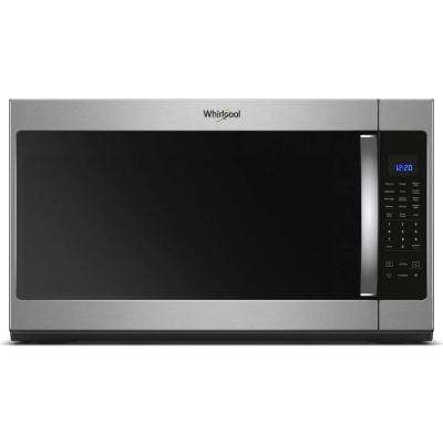 30 in W 2.1 cu. ft. Over the Range Microwave in Fingerprint Resistant Stainless Steel with Steam Cooking