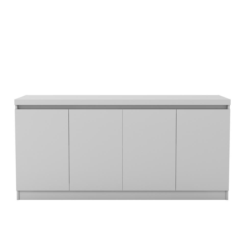 Manhattan Comfort Viennese 62 99 In 6 Shelf Off White Buffet