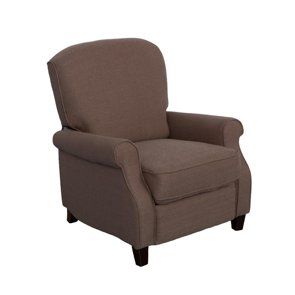 Noah Brown Linen Fabric Recliner