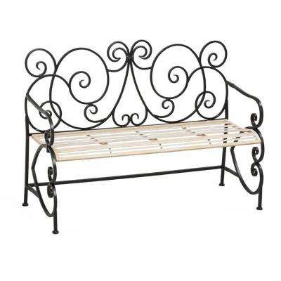 50 in. European Style Outdoor Metal Bench
