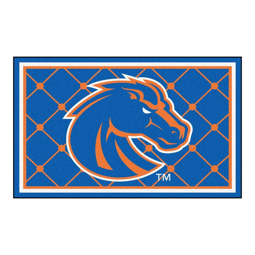 Fanmats Boise State University 4 Ft X 6 Area Rug 6795 The Home Depot