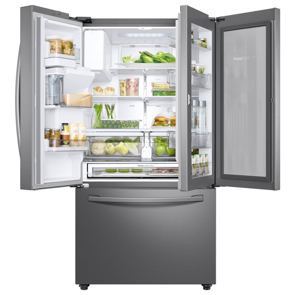 Samsung 28 Cu Ft 3 Door French Door Refrigerator In Stainless