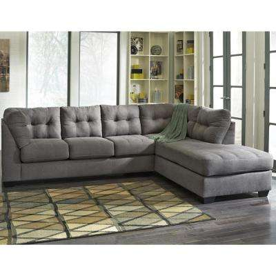 Benchcraft Maier Charcoal Microfiber Sectional With Right Side Facing Chaise