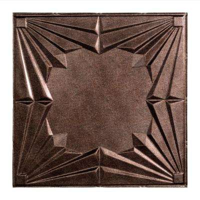 Art Deco - 2 ft. x 2 ft. Lay-in Ceiling Tile in Smoked Pewter