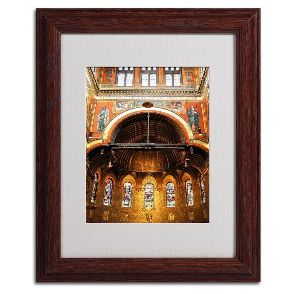 11 inch x 14 inch Trinity Church Matted Framed Art by