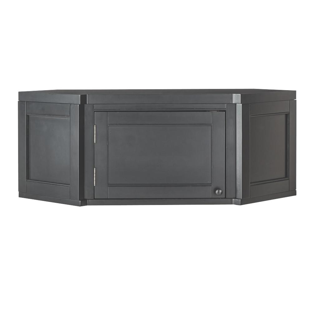 Merveilleux Martha Stewart Living Mudroom Angled Corner Poplar Cabinet In Worn Black