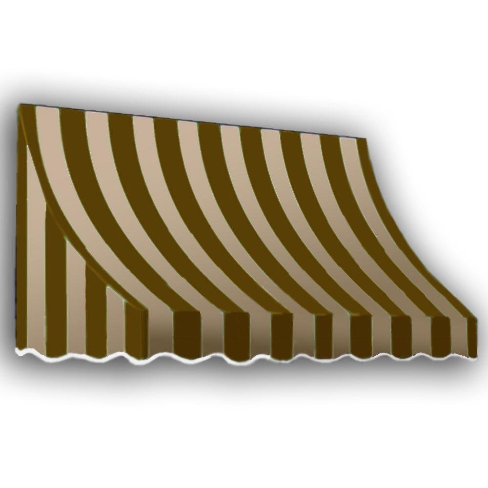 AWNTECH 25 ft. Nantucket Window/Entry Awning (56 in. H x 48 in. D) in Brown/Tan Stripe