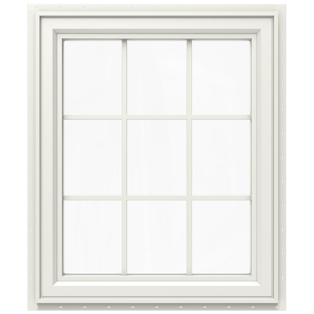 jeld wen 27 5 in x 35 5 in v 2500 series double hung vinyl window white thdjw144400974 the. Black Bedroom Furniture Sets. Home Design Ideas