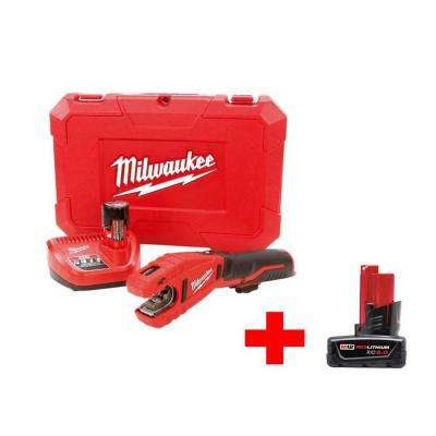 M12 12-Volt Lithium-Ion Cordless Copper Tubing Cutter Kit with Free 6.0Ah Battery