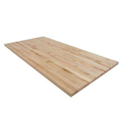 6 ft. L x 3 ft. D x 1.5 in. T Butcher Block Countertop in Finished Maple