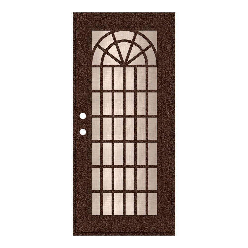 Unique Home Designs 30 in. x 80 in. Trellis Copperclad Right-Hand ...