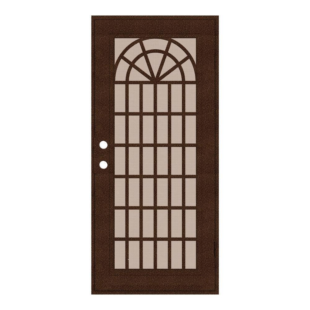 unique home designs 32 in x 80 in trellis copperclad right hand surface mount security door. Black Bedroom Furniture Sets. Home Design Ideas