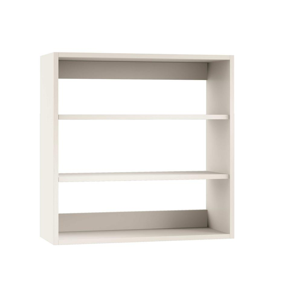 Charmant Open Back Outdoor Kitchen Wall Cabinet With No Doors In Radiant White