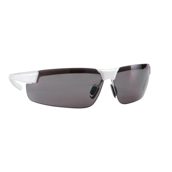White Metallic Frame with Gray Anti-Fog Lens Ultra-Comfort Design Performance Safety Eyewear (Case of 4)