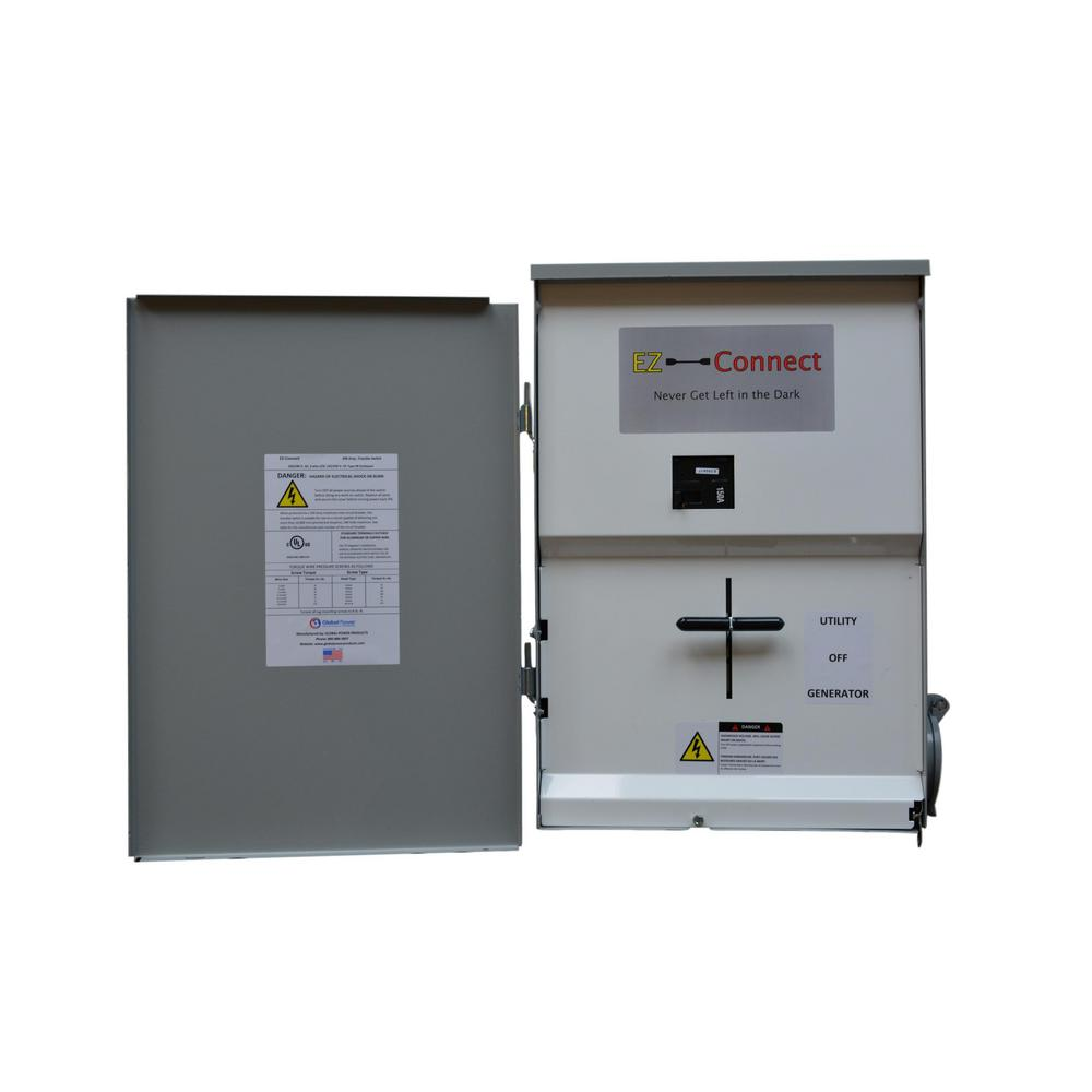 EZ-Connect EZ-Connect Manual Transfer Switch 150 Amp Whole Home with Generator Inlet