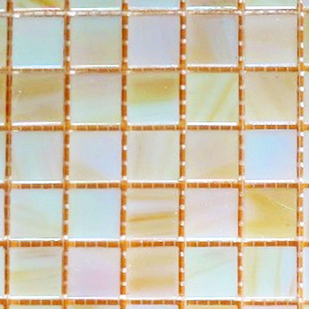 Bellaterra Home Pearly Iridescent 12 In X 4 Mm Gl Mosaic