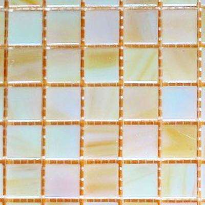Pearly Iridescent 12 in. x 12 in. x 4 mm Glass Mosaic Tile DIY Kit (10 sq. ft./case)