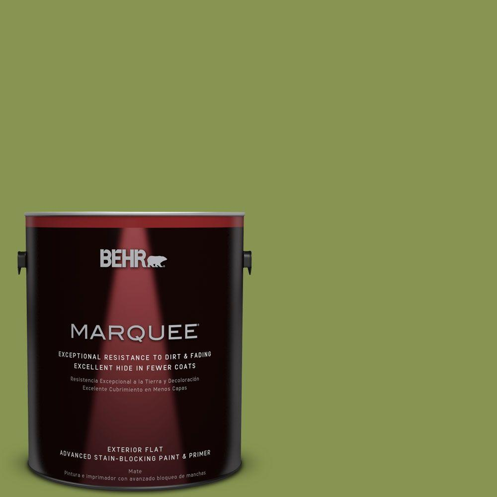 BEHR MARQUEE 1-gal. #M360-6 Bold Avocado Flat Exterior Paint