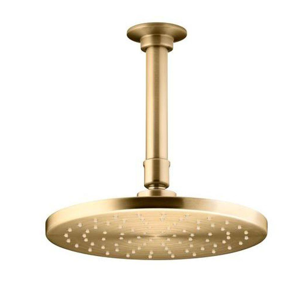 1-Spray Single Function 8 in. Contemporary Round Rain Showerhead with Katalyst