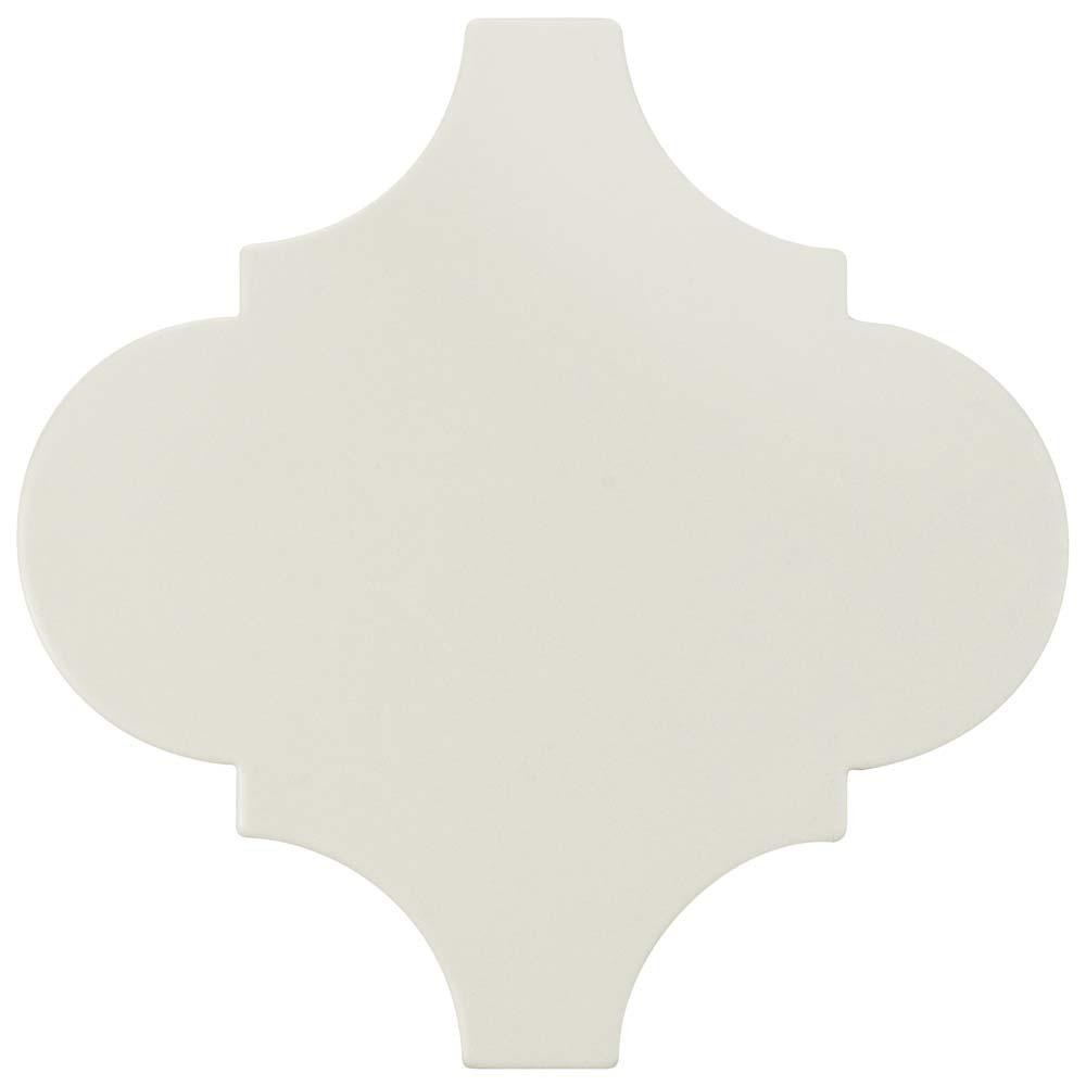 Merola Tile Provenzale Lantern White 8 in. x 8 in. Porcelain Floor and Wall Tile (1.08 sq. ft. / pack)