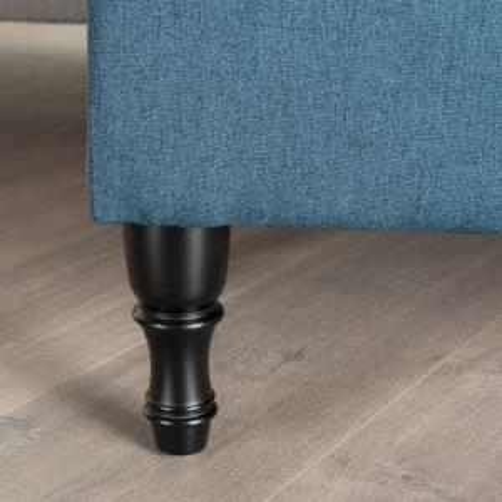 Fabulous Noble House Chantelle Tufted Navy Blue Fabric Storage Spiritservingveterans Wood Chair Design Ideas Spiritservingveteransorg