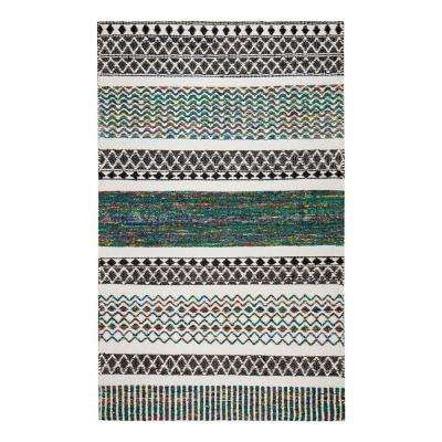 Durga Hand-Loomed Multi-Colored 5 ft. x 8 ft. Flat Weave Area Rug