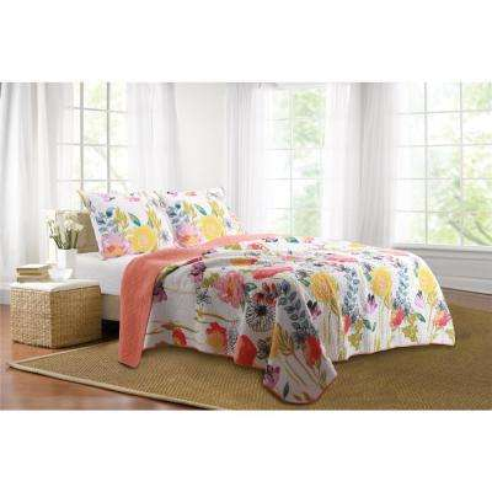 Watercolor Dream 2-Piece Multi Twin Quilt Set