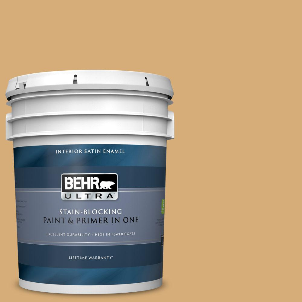 Behr Ultra 5 Gal M280 5 Inheritance Satin Enamel Interior Paint And Primer In One 775405 The Home Depot