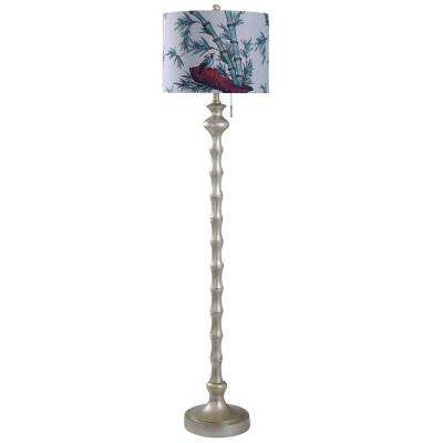 Imperial Silver 65 in. Imperial Silver Floor Lamp