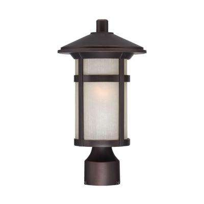 Phoenix 1-Light Architectural Bronze Outdoor Post Lantern