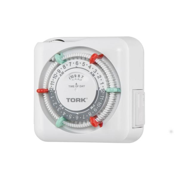 15 Amp 24-Hour Indoor Plug-In Mechanical Appliance Timer with 2-Polarized Outlets, White