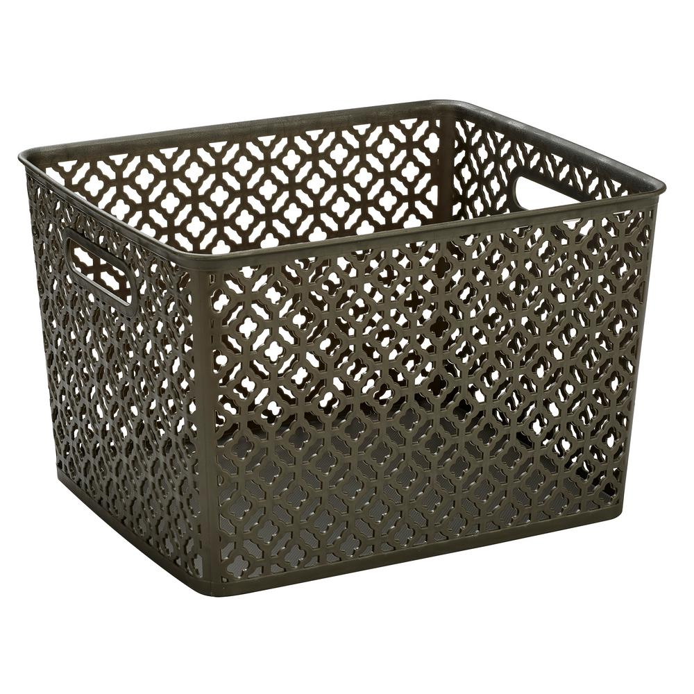 13.75 in. x 11.50 in. x 8.75 in. Trellis Large Storage