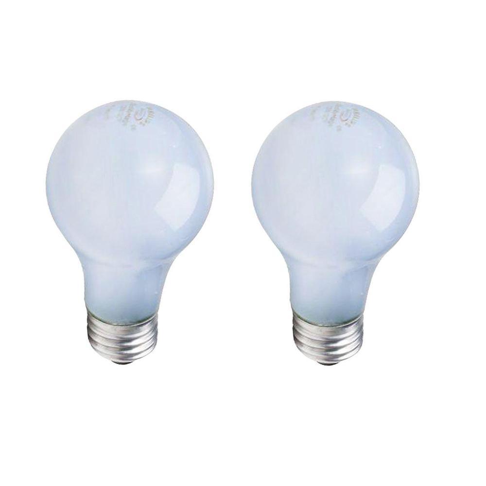 100-Watt Equivalent A19 Dimmable Eco Incandescent Light Bulb (Halogen) Natural Daylight (3070K) (2-Pack)