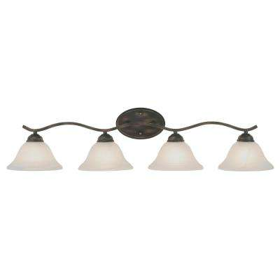 Hollyslope 4-Light Rubbed Oil Bronze Bath Light