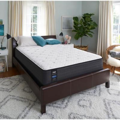 Response Performance 12 in. Queen Cushion Firm Euro Top Mattress with 5 in. Low Profile Foundation Set